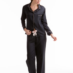 Bluebella Claudia Shirt and Trouser Pyjama Set Red/Black