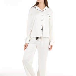 Bluebella claudia shirt and trouser set cream black