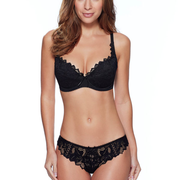35d6011bb45 Lepel Fiore Black Padded Plunge Bra