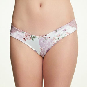 Royce English Rose Brazilian Brief in Cream Floral front image
