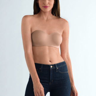Amoena Barbara Strapless Post-Surgery Bra in Nude