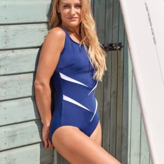 navy mastectomy swimsuit