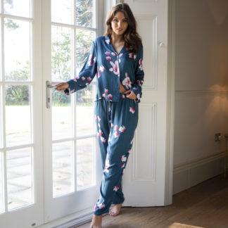 Pour Moi Babylon Teal Floral Print Pyjama Set